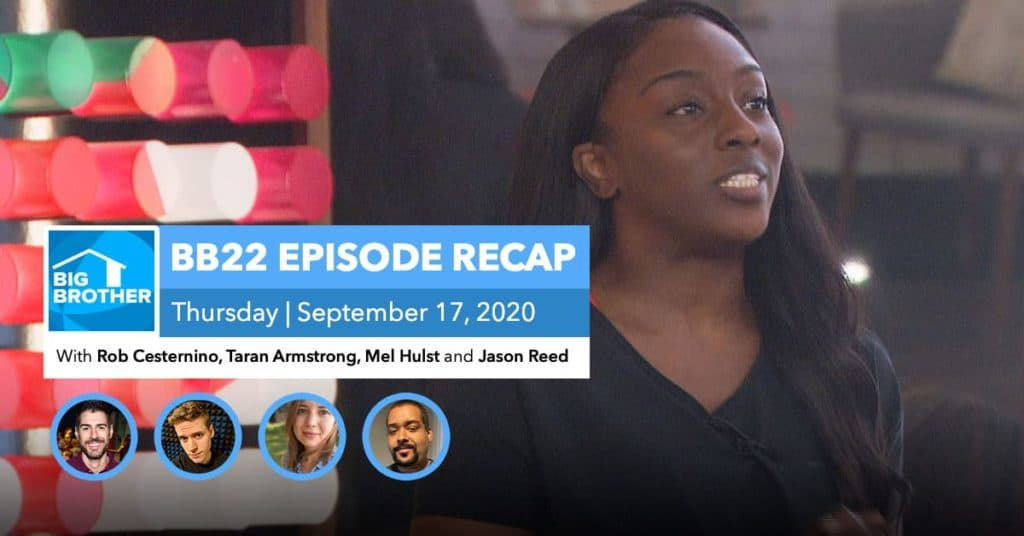 BB22 | Eviction Episode Recap | Thursday, Sept 17, 2020