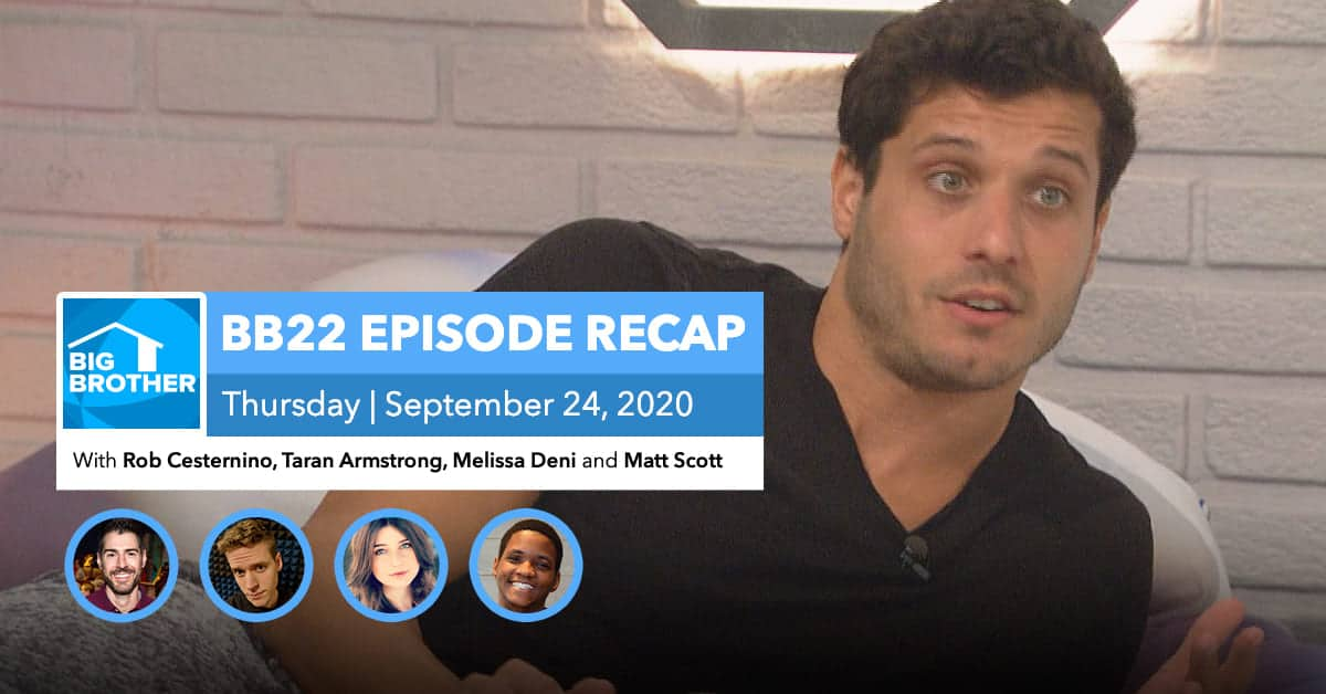 BB22 | Eviction Episode Recap | Thursday, Sept 24, 2020