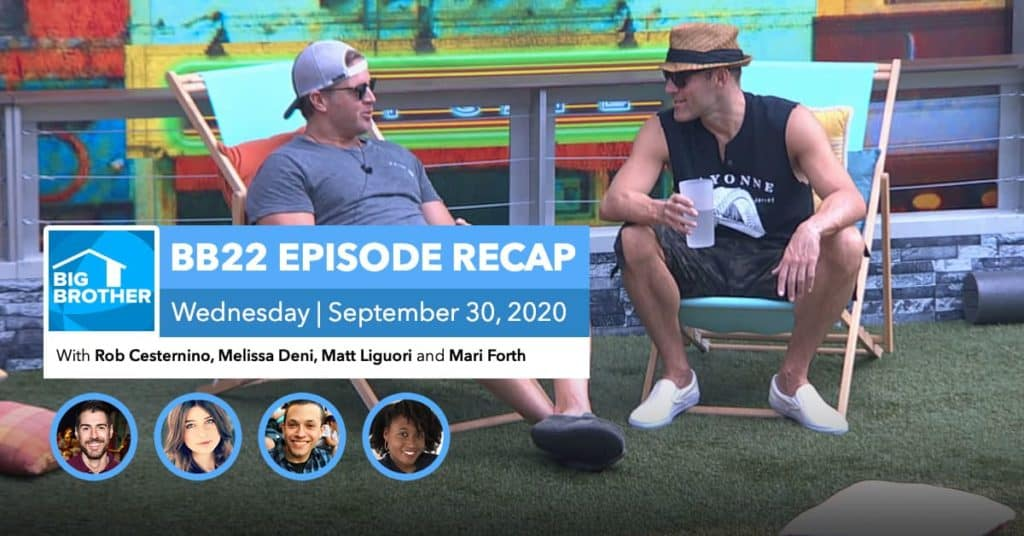 BB22 | Wednesday 9/30 Episode Recap