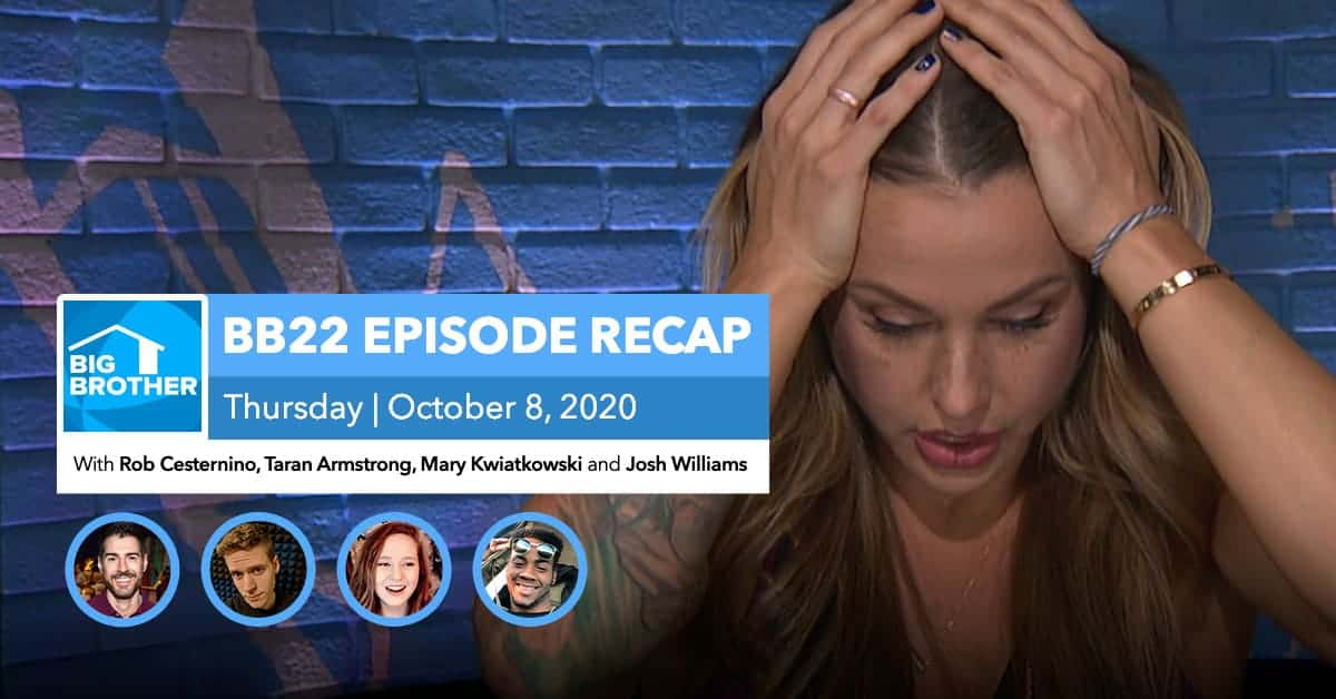BB22 | Eviction Episode Recap | Thursday, Oct 8, 2020