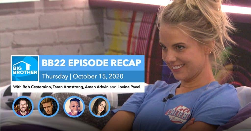 BB22 | Eviction Episode Recap | Thursday, Oct 15, 2020