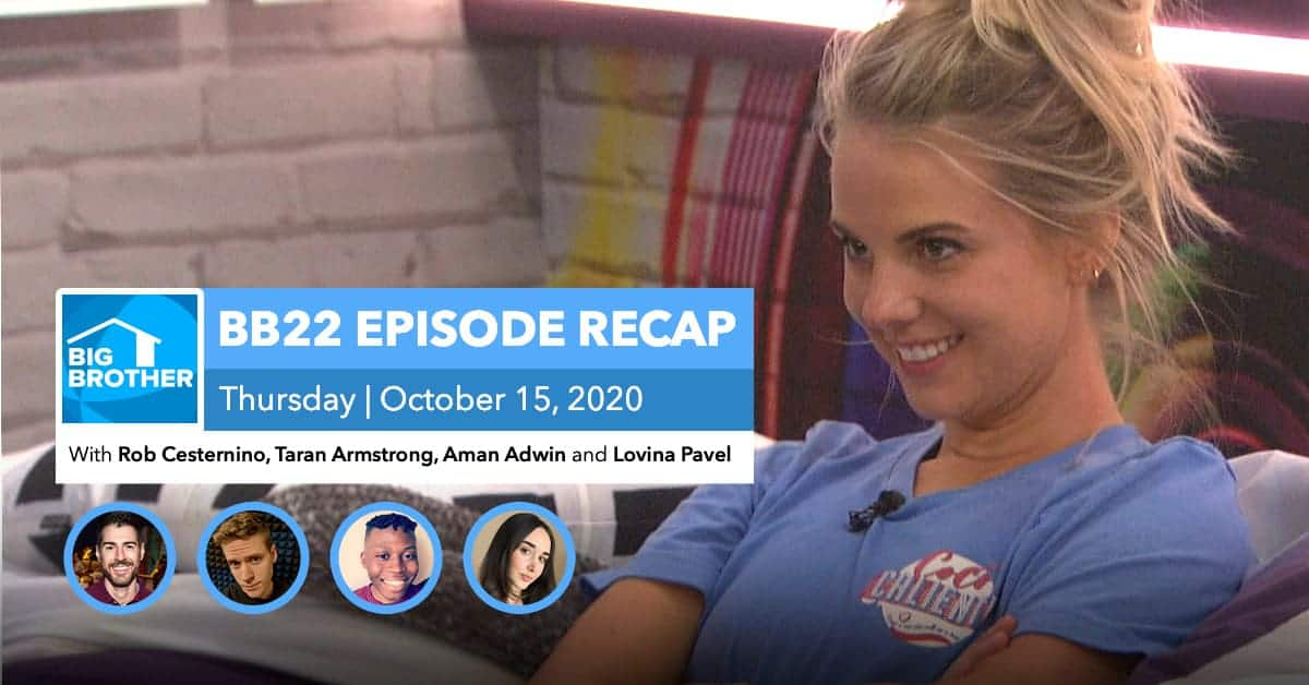 BB22 | Eviction Episode Recap | Thursday, Oct 15, 2020