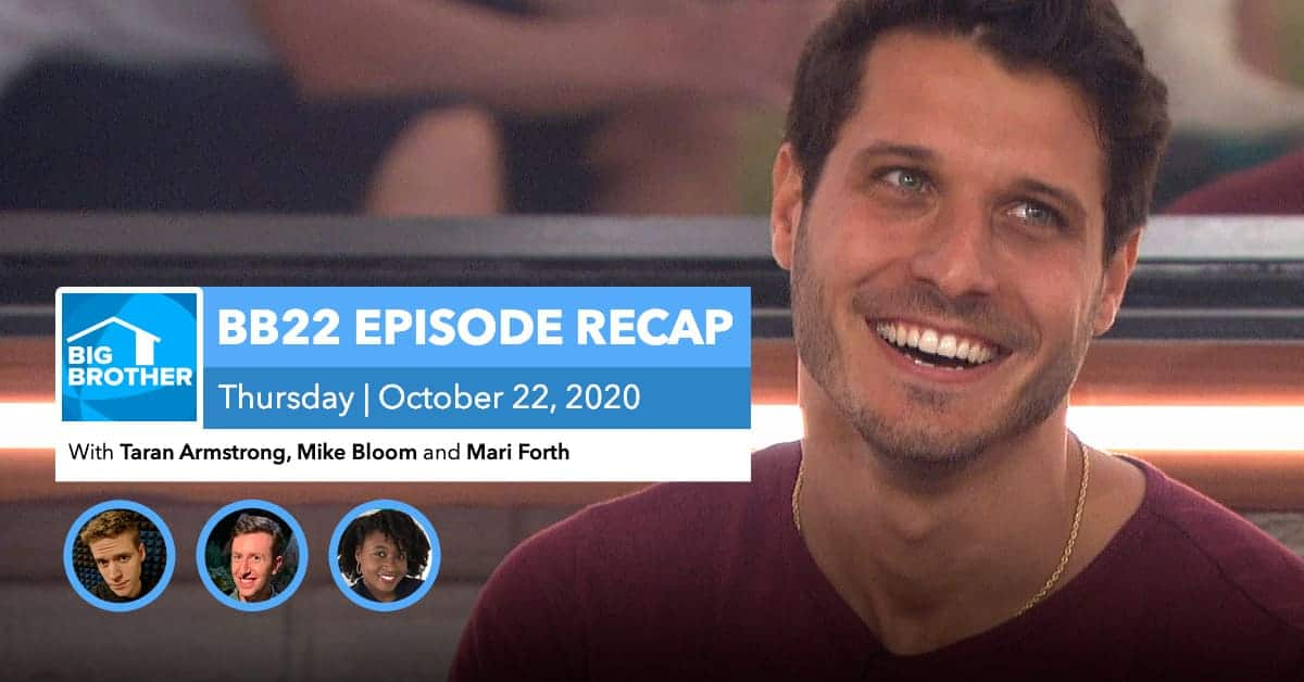 BB22 | Eviction Episode Recap | Thursday, Oct 22, 2020
