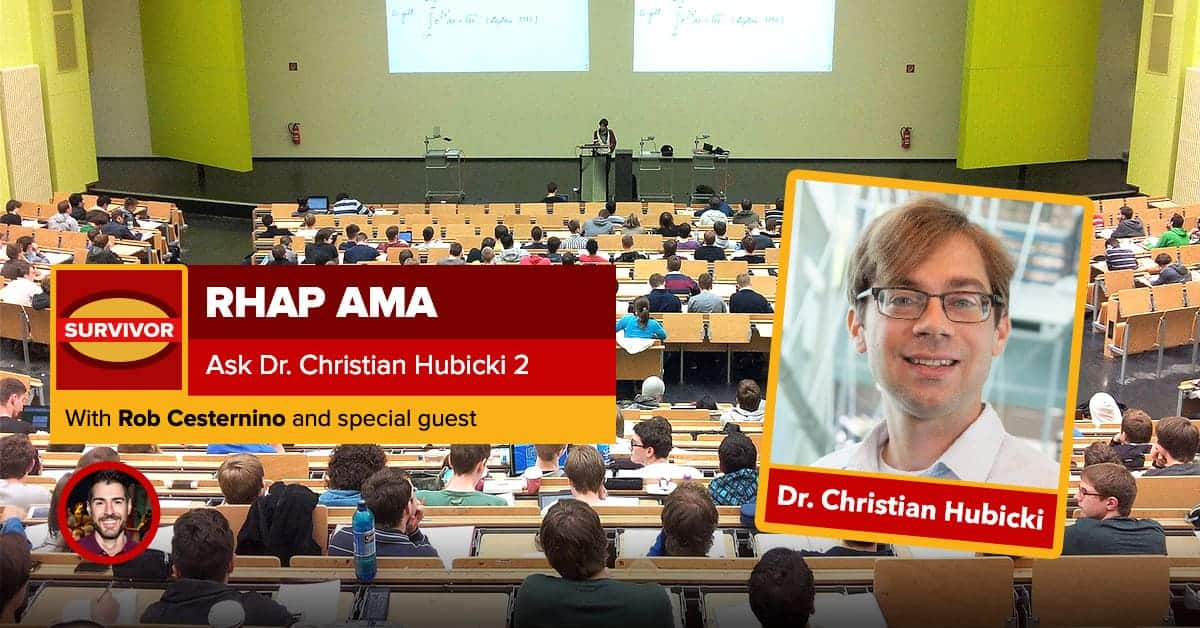 Ask Dr. Christian Hubicki 2.0 | RHAP AMA
