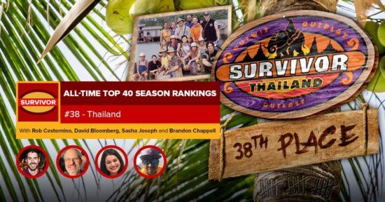 Survivor All-Time Top 40 Rankings   #38: Thailand