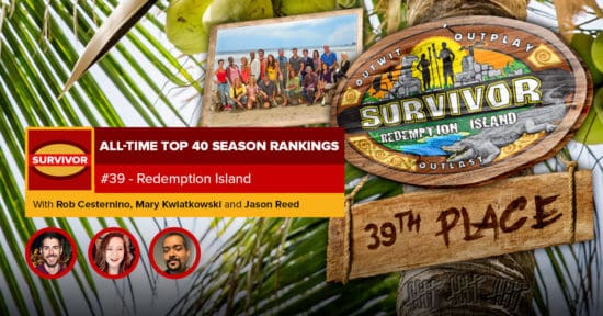 Survivor All-Time Top 40 Rankings   #39: Redemption Island