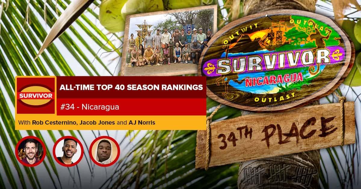 Survivor All-Time Top 40 Rankings | #34: Nicaragua