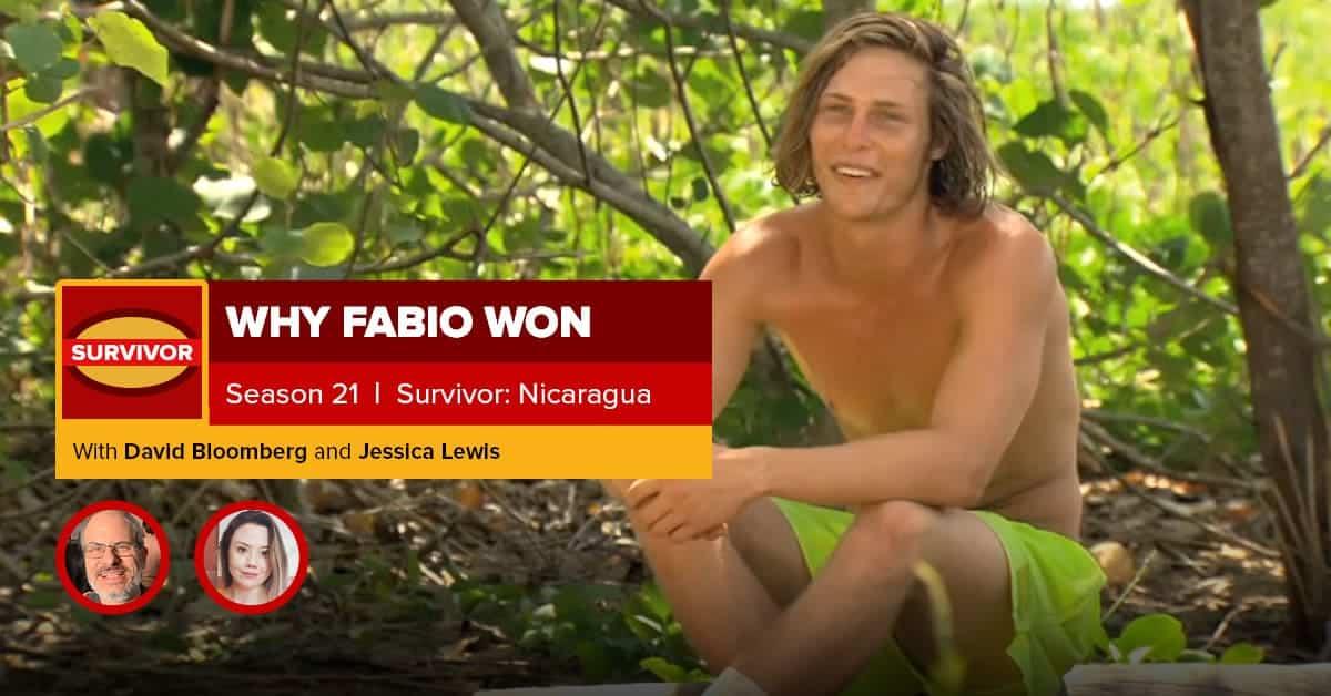 Survivor: Nicaragua | Why Fabio Won | David Bloomberg & Jessica Lewis