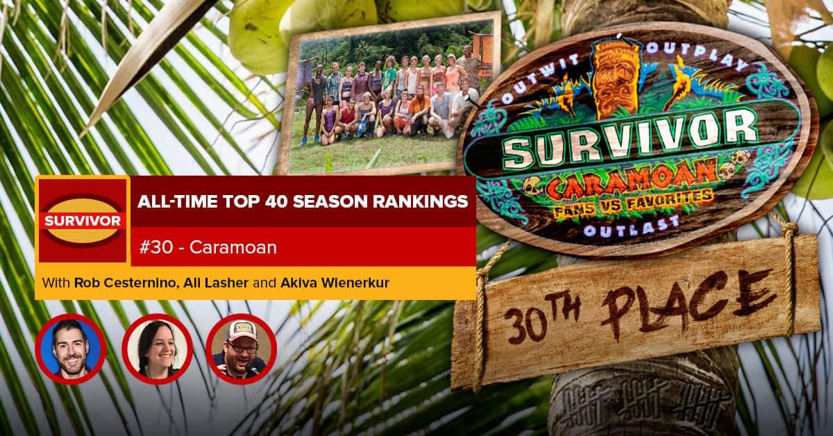Survivor All-Time Top 40 Rankings | #30: Caramoan