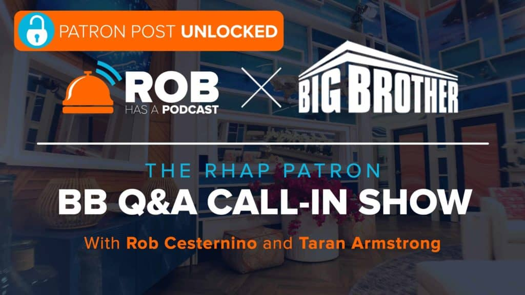 PATRON POST UNLOCKED: BB Q&A LIVE with Taran Armstrong