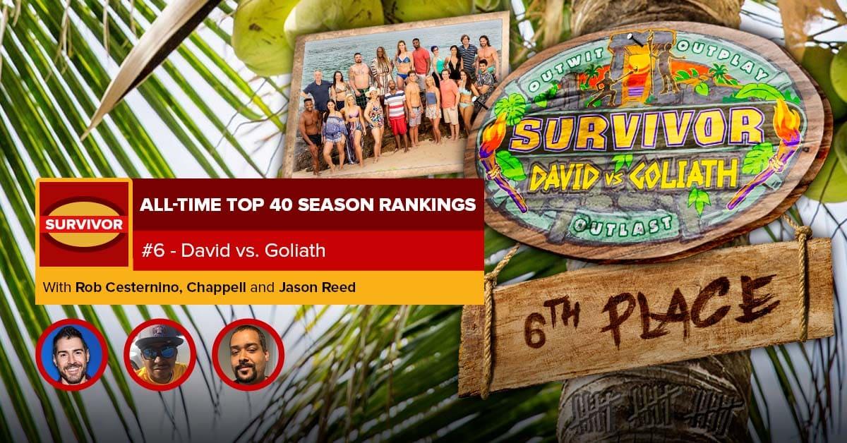 Survivor All-Time Top 40 Rankings | #6: David vs. Goliath