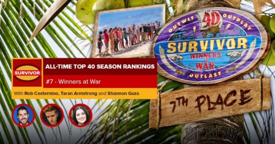 Survivor All-Time Top 40 Rankings   #7: Winners At War