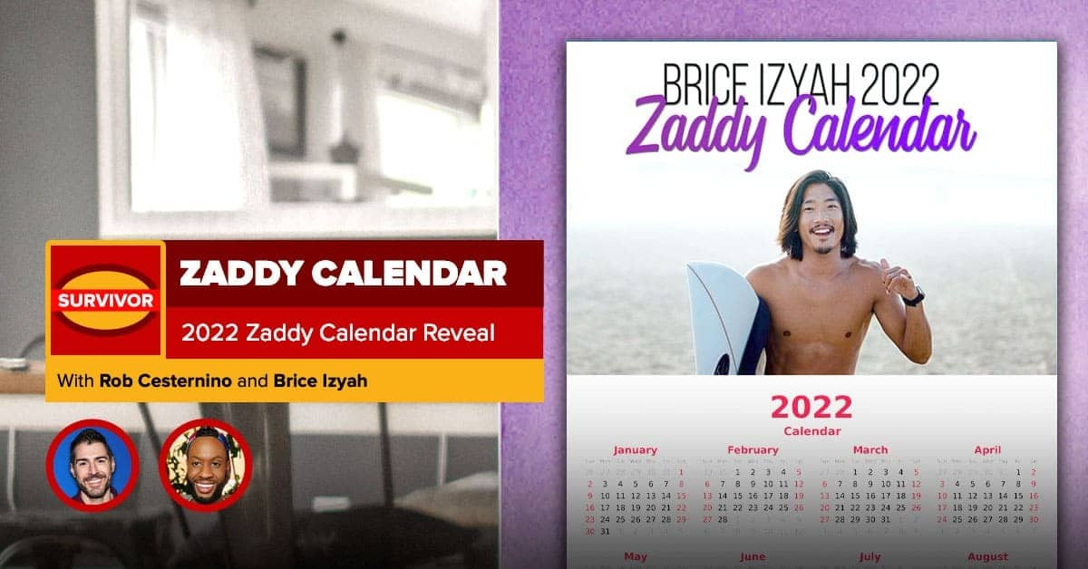 2022 Zaddy Calendar